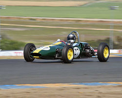 Chris Locke with 1963 Lotus 27 in Group 8 - 1956-1963 Formula Junior cars at the 2015 Sonoma Historic Motorsports Festival at Sonoma Raceway