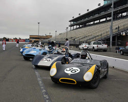 PreGrid for Group 4 - 1955-1960 Sports Racing Cars at the 2015 Sonoma Historic Motorsports Festival at Sonoma Raceway