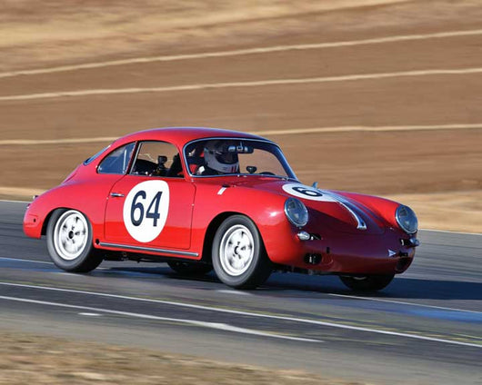 Joseph Rossi with 1964 Porsche 356C in  Group 2 at the 2015 Season Finale at Thunderhill Raceway