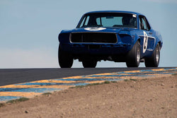 Chris Liebenberg with 1968 Ford Mustang in Group 10 at the 2016 SVRA Sonoma Historics - Sears Point Raceway