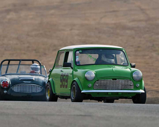 Don Racine with 1960 Mini Cooper in  Group 2 at the 2015 Season Finale at Thunderhill Raceway