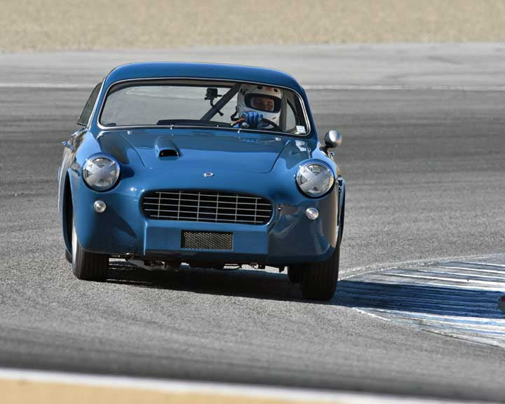 Paul Cressey with 1959 Peerless GT in Group 2A - 1955-1962 GT Cars at the 2015-Rolex Monterey Motorsport Reunion, Mazda Raceway Laguna Seca