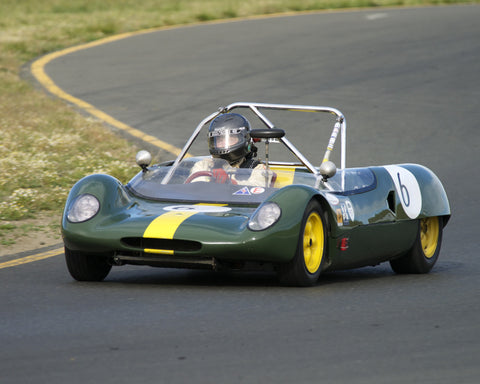 Ned Spieker driving his 1963 Lotus 23B in Group 4 at the 2015 CSRG David Love Memorial Vintage Car Road Races at Sonoma Raceway