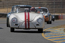 George Batcabe - 1956 Porsche Speedster in 1955-65 Production & GT Cars - Group 3 at the 2017 SVRA Sonoma Historic Motorsports Festivalrun at Sonoma Raceway