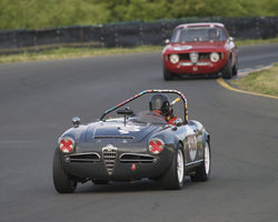 Peter Inshaw driving his 1963 Alfa Romeo Giulia Spider in Group 2 at the 2015 CSRG David Love Memorial Vintage Car Road Races at Sonoma Raceway