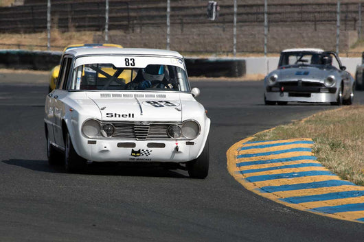 Edward Lauber with 1967 Alfa Romeo Giulia Super in Group 9 -  at the 2016 SVRA Sonoma Historics - Sears Point Raceway