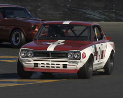 Jim Froula driving his 1972 Nissan Skyline in Group 8 at the 2015 CSRG David Love Memorial Vintage Car Road Races at Sonoma Raceway