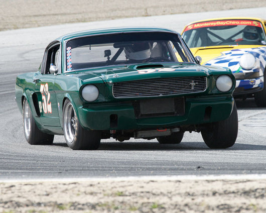 Bill Kelley with 1966 Ford Mustang at the 2016 HMSA LSR Invitational I at Mazda Raceway Laguna Seca