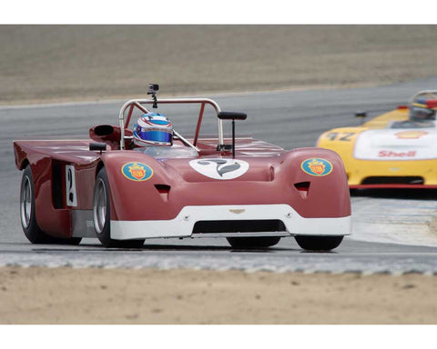 Mike Miller driving his Chevron B19 in Group 5 at the 2015 HMSA Spring Club Event at Mazda Raceway Laguna Seca