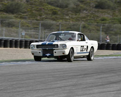 James Roehrig with 1966 Shelby GT350 in Group 1A - Pre 1940 Sports Racing and Touring Cars at the 2015-Rolex Monterey Motorsport Reunion, Mazda Raceway Laguna Seca
