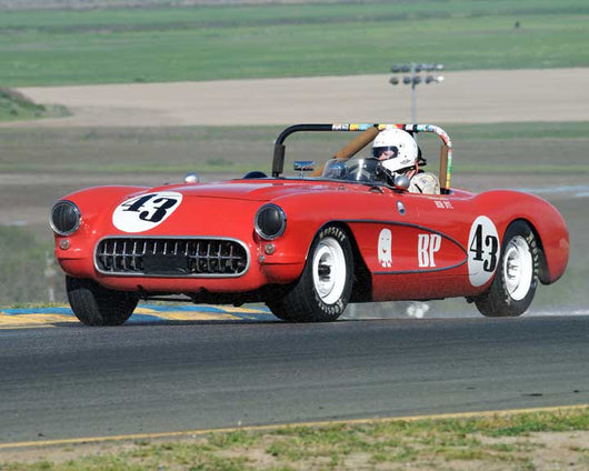 Russ Uzes with 1957 Chevrolet Corvette in Group 9 - at the 2016 CSRG David Love Memorial - Sears Point Raceway