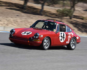 Hurley Haywood with 1967 Porsche 911S in Group 3 - Eifel Trophy at the 2015 Rennsport Reunion V, Mazda Raceway Laguna Seca