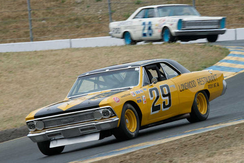 Linda Mountanos with 1966 Chevrolet Chevelle in Group 5 -  at the 2016 SVRA Sonoma Historics - Sears Point Raceway