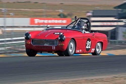 Bill Greenman - 1967 MG Midget in Group 2 - Small Displacement Production Sports Cars through 1967 at the 2017 CSRG Charity Challenge run at Sonoma Raceway