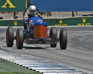 Max Jamiesson with 1935 Ford Sprint Car in Group 1B - 1927-1951 Racing Cars at the 2015-Rolex Monterey Motorsport Reunion, Mazda Raceway Laguna Seca