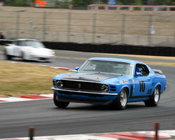 Mike Woolsey with 1970 Ford Mustang in Group 5 - WSC and World Manufactuer's Championship 1960-1972 at the 2015 Portland Vintage Racing Festival at Portland International Raceway