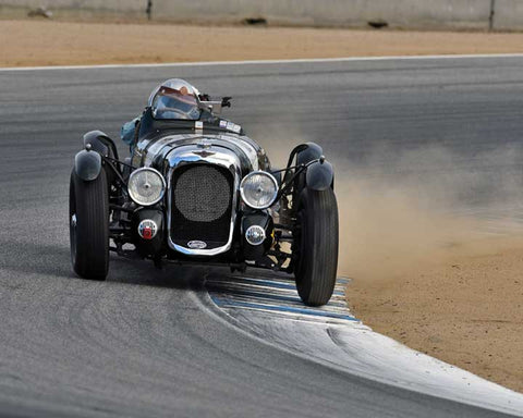 Richard Morrison with 1939 Lagonda V12 in Group 1A - Pre 1940 Sports Racing and Touring Cars at the 2015-Rolex Monterey Motorsport Reunion, Mazda Raceway Laguna Seca