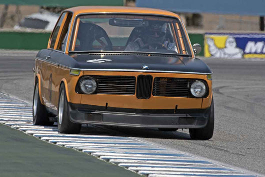 Alec Hugo - 1969 BMW 2002 in Group 4B  at the 2016 Rolex Monterey Motorsport Reunion - Mazda Raceway Laguna Seca