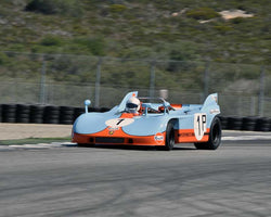 John Morton with 1971 Porsche 908with3 in Group 6A - FIA Manufacturers Championship Cars at the 2015-Rolex Monterey Motorsport Reunion, Mazda Raceway Laguna Seca
