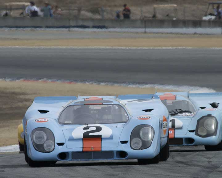 Bruce Canepa with 1969 Porsche 917K in Group 4 - Weissach Cup at the 2015 Rennsport Reunion V, Mazda Raceway Laguna Seca
