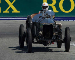 Dick Deluna with 1917 HallwithScott The FourwithAwith7A in Group 1A - Pre 1940 Sports Racing and Touring Cars at the 2015-Rolex Monterey Motorsport Reunion, Mazda Raceway Laguna Seca