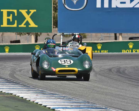 Thor Johnson with 1959 Lotus 17 in Group 3B - 1955-1961 Sports Racing Cars under 2000cc at the 2015-Rolex Monterey Motorsport Reunion, Mazda Raceway Laguna Seca