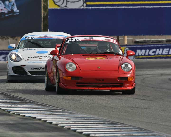 Philip Blackstone with 1995 Porsche 993 RSCS in Group 1 - PCA Sholar-Friedman Cup at the 2015 Rennsport Reunion V, Mazda Raceway Laguna Seca