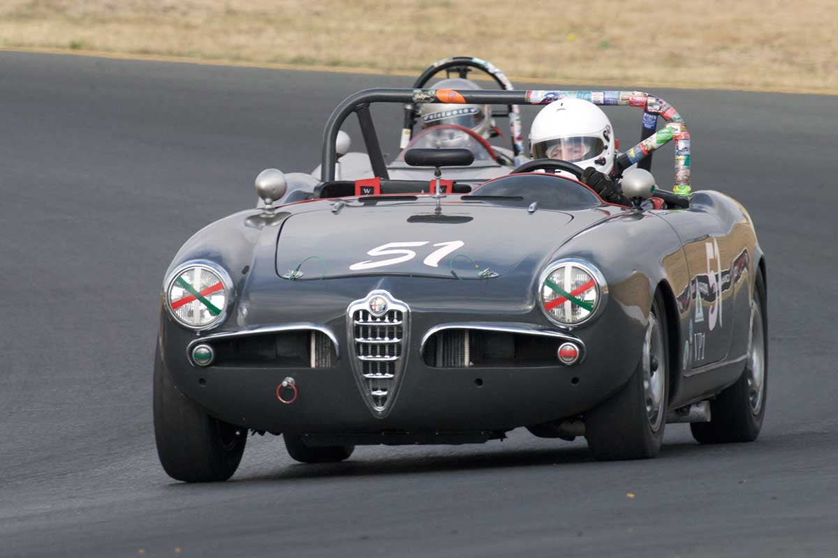 Mark Carpenter - 1957 Alfa Romeo Spider in Group 1 -  at the 2016 Charity Challenge - Sonoma Raceway