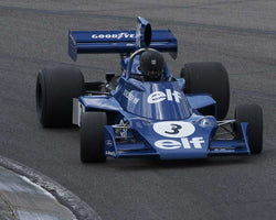 Nicholas Colyvas with 1974 Tyrrell 007 in Group 6 Master F1 at the 2015 HMSA Barber Historics