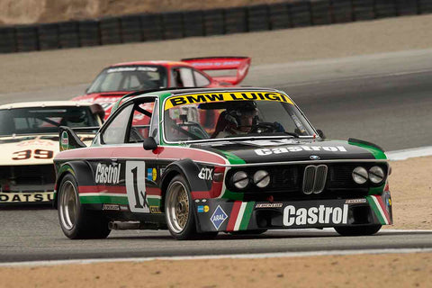 Steve Walker - 1976 BMW CSL in Group 4A - 1973-1981 FIA, IMSA GT,GTX,AAGT Cars at the 2017 Rolex Monterey Motorsport Reunion run at Mazda Raceway Laguna Seca