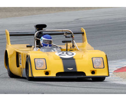 R. Gray Gregory driving his Chevron B26 in Group 5 at the 2015 HMSA Spring Club Event at Mazda Raceway Laguna Seca
