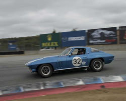 Phil Scheinberg driving his 1966 Corvette in Group 3 at the 2015 HMSA LSR Inventional I at Mazda Raceway Laguna Seca