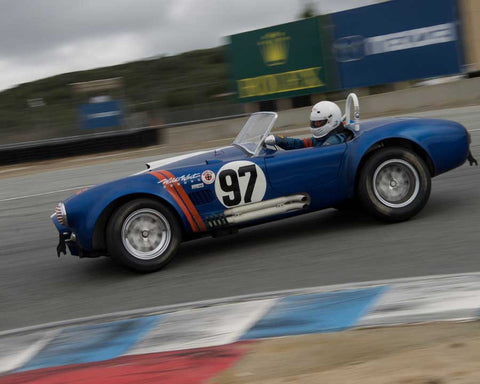 Steve Park driving his 289 Cobra in Group 6 at the 2015 HMSA Spring Club Event at Mazda Raceway Laguna Seca