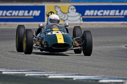 James Brown - 1961 Lotus 20 in Group 2B - 1958-1960 Formula Jr. - front engine or drum brakes at the 2017 Rolex Monterey Motorsport Reunion run at Mazda Raceway Laguna Seca