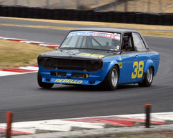 Troy Ermish with 1971 Datsun 510 in Group 8 - Production Sports Cars and Sedan 1973-1985 at the 2015 Portland Vintage Racing Festival at Portland International Raceway