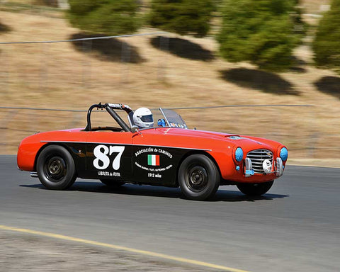 Robert Williams with 1952 Siata Daina in Group 2 - 1946-1955 Sports Racing and Production Cars at the 2015 Sonoma Historic Motorsports Festival at Sonoma Raceway