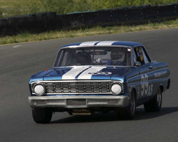 Jonathan Long driving his 1964 Ford Falcon in Group 8 at the 2015 CSRG David Love Memorial Vintage Car Road Races at Sonoma Raceway