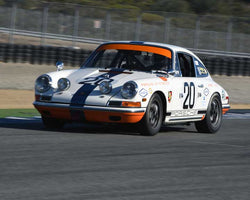 Charles Harris with 1968 Porsche 911L in Group 3 - Eifel Trophy at the 2015 Rennsport Reunion V, Mazda Raceway Laguna Seca