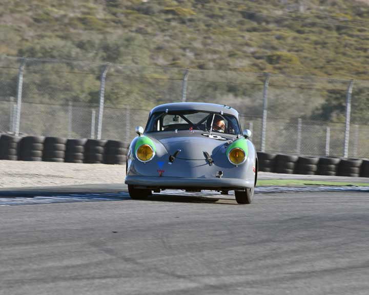 Ron Goodman with 1954 Porsche 356 in Group 2 - Gmund Cup at the 2015 Rennsport Reunion V, Mazda Raceway Laguna Seca