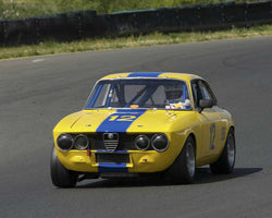 Don Foster driving his 1969 Alfa Romeo GTV in Group 8 at the 2015 CSRG David Love Memorial Vintage Car Road Races at Sonoma Raceway