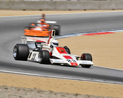 Brad Hoyt with 1975 Hill GH1 in Group 8A - 1967-1984 Formula One Cars at the 2015-Rolex Monterey Motorsport Reunion, Mazda Raceway Laguna Seca