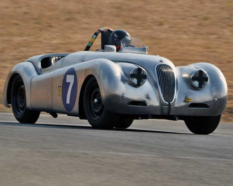 Dave Olson with 1950 Jaguar XK 120 in  Group 1 at the 2015 Season Finale at Thunderhill Raceway