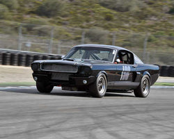 Drew Alcazar with 1966 Shelby GT350 in Group 1A - Pre 1940 Sports Racing and Touring Cars at the 2015-Rolex Monterey Motorsport Reunion, Mazda Raceway Laguna Seca