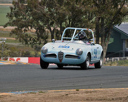 Sid Gage with 1957 Alfa Romeo Giulietta in Group 3 - 1955-1962 Production and GT Cars at the 2015 Sonoma Historic Motorsports Festival at Sonoma Raceway