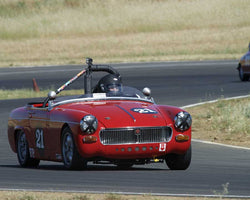 Bill Greenmans driving his 1967 MG Midget in Group 2 at the 2015 CSRG Thunderhill Rolling Thunder at Thunderhill Raceway
