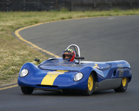 Michael Callaham driving his 1964 Lotus 23B in Group 4 at the 2015 CSRG David Love Memorial Vintage Car Road Races at Sonoma Raceway