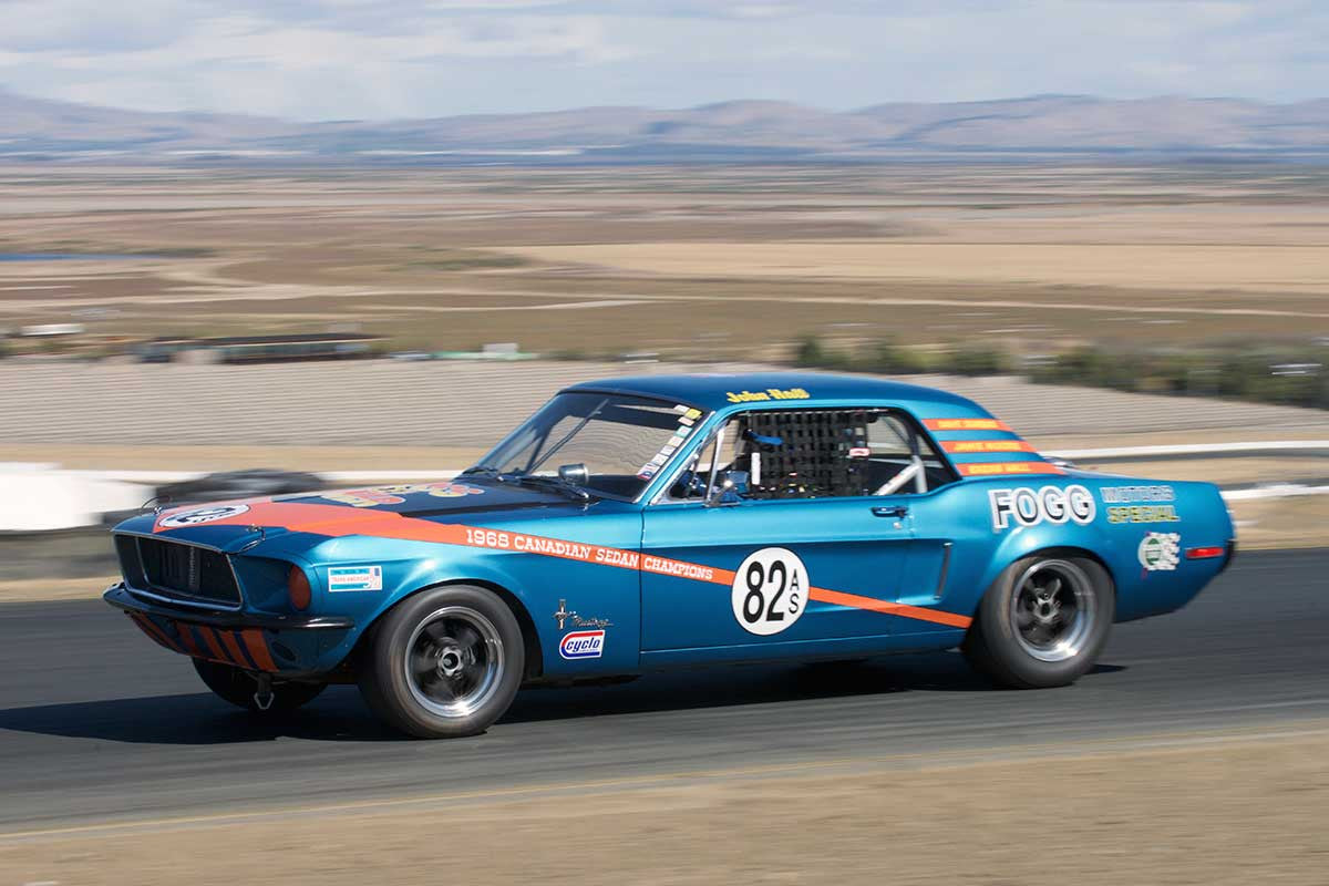 Steve Barber - 1968 Ford Mustang in Group 8 -  at the 2016 Charity Challenge - Sonoma Raceway
