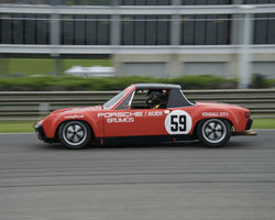 Jerry Peters with Porsche 914/6 in Group 2  at the 2015 HMSA Barber Historics