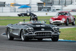 Tony Parella - 1958 Chevrolet Corvette - Group 4 at the 2017 Brickyard Vintage Racing Invitationalrun at Indianapolis Motor Speedway