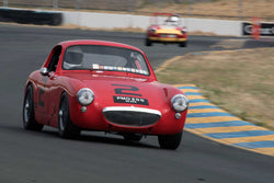 Terry Cowan with 1960 Austin Healey Sebring Sprite Coupe in Group 3 -  at the 2016 SVRA Sonoma Historics - Sears Point Raceway